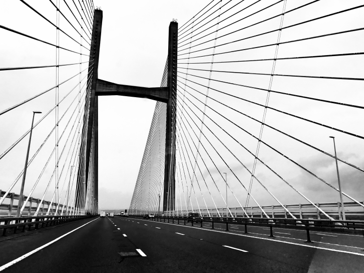 Severn Bridge / Pont Hafren, Westbound :: © image copyright Louise Badawi, all rights reserved